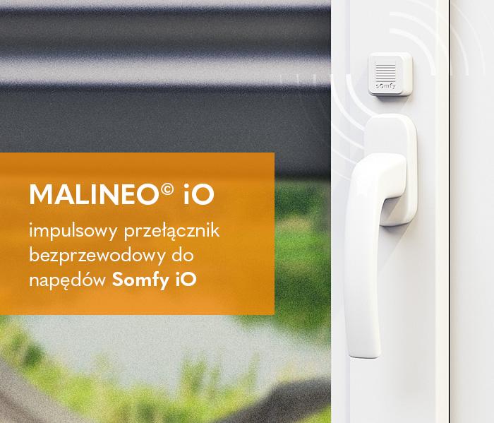 Malineo© iO – impulsowy przełącznik bezprzewodowy do napędów Somfy iO