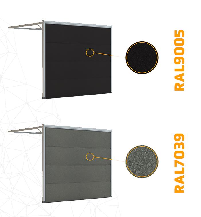 9005 i 7039 dołączyły do listy standardowych kolorów lakierowanych paneli bram segmentowych